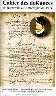 Cahier des doléances de la province de Bretagne de 1574